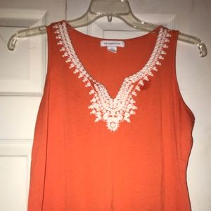 Orange Liz Claiborne top
